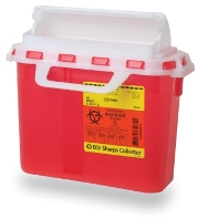 BD Sharps Collector, 5.4 Qt Patient Room with Horizontal Entry (305517)