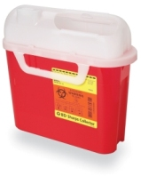BD Sharps Collector, 5.4 Qt Patient Room with Side Entry (305443)