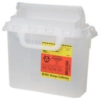 BD Sharps Collector, 5.4 Qt Pearl Patient Room with Horizontal Entry (305428)