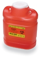 BD Sharps Collector, 6.9 Qt Multi-Use, One-Piece Regular Funnel Entry Top with Solid Cap (305489)