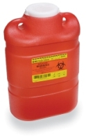 BD Sharps Collector, 8.2 Qt Multi-Use One-Piece with Regular Funnel Entry (305490)
