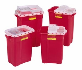 BD Sharps Collector, 9 Gallon Hinged Top with Gasket (305601)