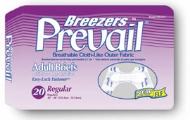 Breezers by Prevail Adult Diapers (Size Regular (Bag of 20)