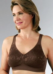 Classique Lace Cup Glitter Edge Post Pocketed Bra, Style 769