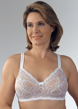 Classique Scalloped Lace Sensual Post Pocketed Bra, Style 779