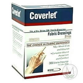 """Coverlet Strip Fabric Bandages (1""""x3"""") (Box of 300)"""