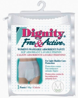 Dignity Women's Free & Active Panty with Built-In Absorbency