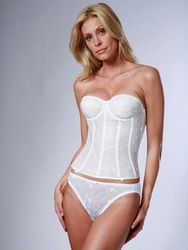 Dominique Intimate Apparel Embroidered Lace Torsolette 8900
