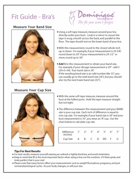 Dominique Intimate Apparel Molded Underwire Silky Support Bra 7500