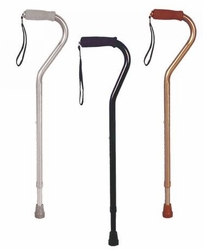 Drive Aluminum Canes with Offset Handle in Solid Colors (Adjustable)