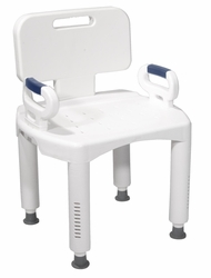Drive Premium Series Bath Bench with Back and Arms