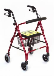 Essential Medical Featherlight Walker with Loop Brakes