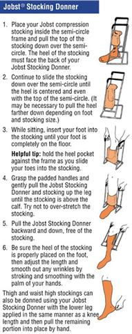 Instructions for Jobst Stocking Donner