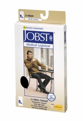 Jobst for Men Casual Knee High Sock Closed Toe (30-40 mmHg)