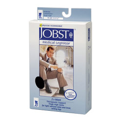 Jobst for Men Knee High Closed Toe Compression Socks (15-20 mmHg)