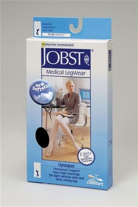 Jobst Opaque Knee High Petite Closed Toe (15-20 mmHg)