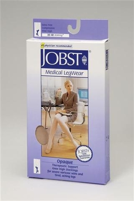 Jobst Opaque Knee High Petite Closed Toe (30-40 mmHg)