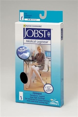 Jobst Opaque Knee High Petite Open Toe (20-30 mmHg)