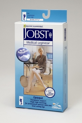 Jobst Opaque Thigh High Petite Closed Toe (20-30 mmHg)