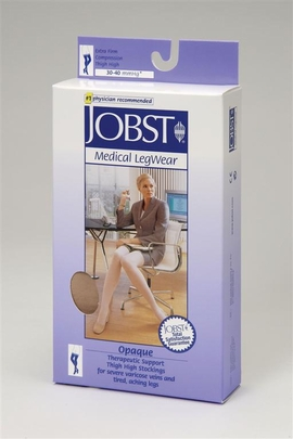 Jobst Opaque Thigh High Petite Closed Toe (30-40 mmHg)