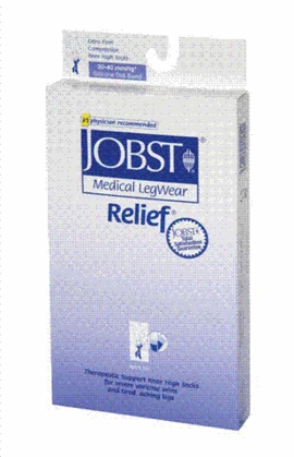 Jobst Relief Knee High with Silicone Dot Band, Open Toe (30-40 mmHg)