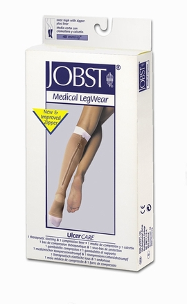 Jobst UlcerCARE Knee High with Zipper Plus Liner