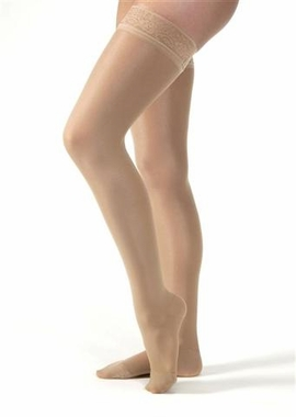 Jobst UltraSheer Thigh High with Silicone Lace Band Closed Toe (15-20 mmHg)