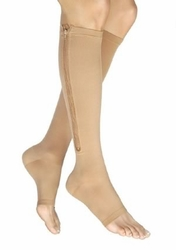 Jobst Vairox Knee High with Zipper and Open Toe (30-40 mmHg)