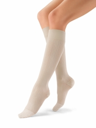 Jobst Women's SoSoft Brocade Closed Toe Support Knee High Sock (8-15 mmHg)