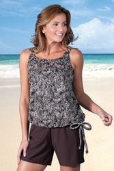 Jodee Misses Dark Brown Shorts (Style 3011)