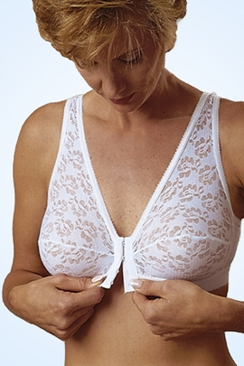 Jodee Soft 'N Lacy Pocketed Front-Closure Bra