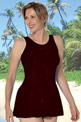 Jodee Solid Black Soft Cup Pocketed Swim Dress, Misses (Style 1447)