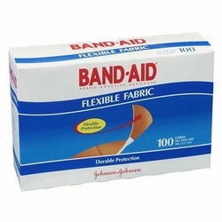 "Johnson & Johnson Flexible Fabric 1"" Wide Band-Aid (Box of 100)"