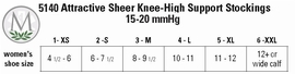 Juzo Attractive OTC 5140 AD Knee-High Sheer Support Hose (15-20 mmHg)