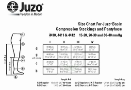 Juzo Basic 4202AD Ribbed Socks (30-40 mmHg)