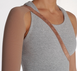 Juzo Dynamic (Varin) Soft-In Compression Arm Sleeve 3512 CH (30-40 mmHg) with Shoulder Strap
