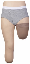 Juzo Dynamic Xtra Above Knee Compression Shrinker with Silicone Border (20-30 mmHg)