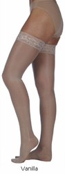 Juzo Naturally Sheer 2100 AG Thigh High Stockings (15-20mm Hg)
