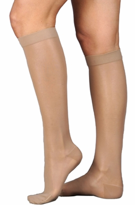Juzo Naturally Sheer 2101 AD Knee High Stockings (20-30mm Hg)