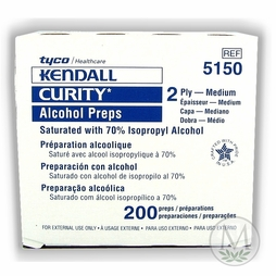 Kendall Curity Alcohol Preps 2 Ply (Medium (Box of 200)