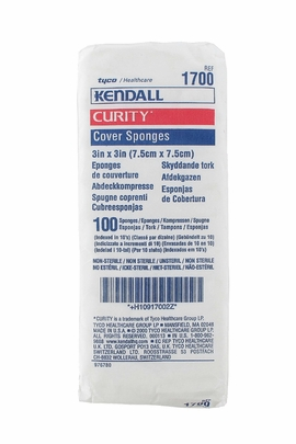 "Kendall Curity Nonsterile Cover Sponges 3""x3"" (1700)"