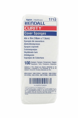 "Kendall Curity Nonsterile Cover Sponges 3""x4"" (1713)"