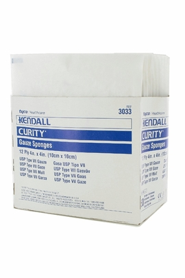 "Kendall Curity Sterile 12 ply Gauze Sponges (4""x4"") (Box of 50)"