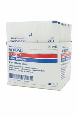 "Kendall Curity Sterile Cover Sponges 4"" x 4"" (2913)"