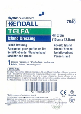 "Kendall TELFA Island Dressings (4""x5"") (Box of 25)"