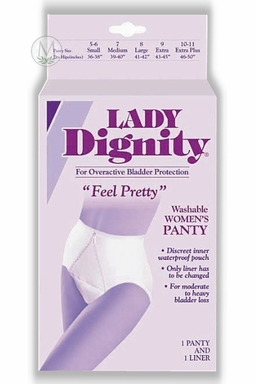Lady Dignity Women's Panty with Built-In Protective Pouch