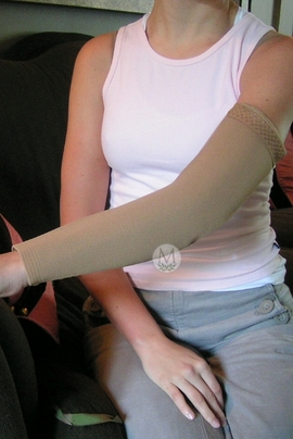 Mediven 550 Arm Sleeve with Silicone Top Band (Class Two (30-40 mmHg)