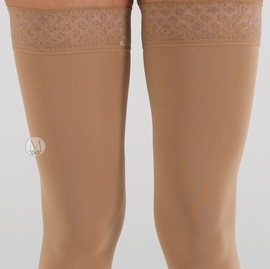 Mediven Comfort Thigh High with Lace Silicone Top Band (15-20 mmHg)