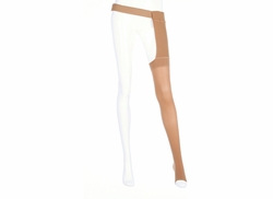 Mediven Plus Thigh High with Waist Attachment for the Left Leg (30-40 mmHg)