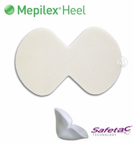 Mepilex Heel Ag Silicone Foam Heel Dressing (by the Each)